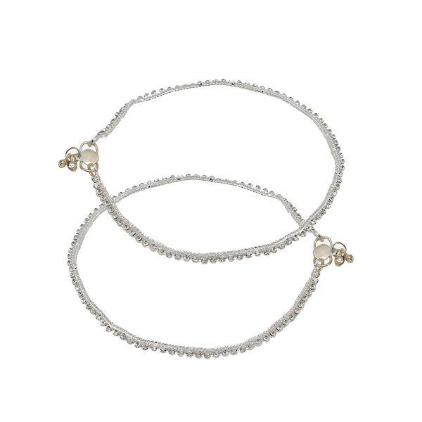 Silver Sleek Look Ethnic Payal For Women