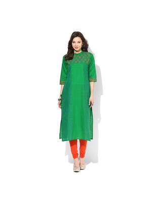 Riya Printed Kurta, s,  green