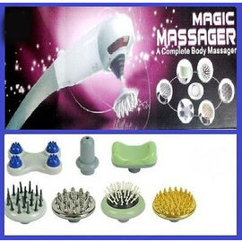 Magic Massager heavy duty For legs hands heads forehead with 7 attachments