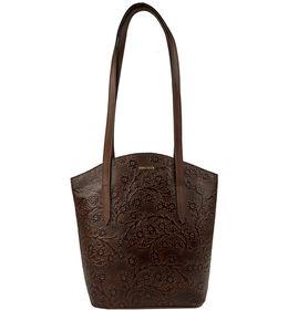 Hidesign Women Bonn Embossed Handbag,  brown