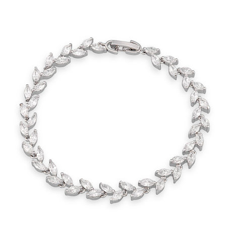 Shaze Silver 4156 Laurel Bracelet