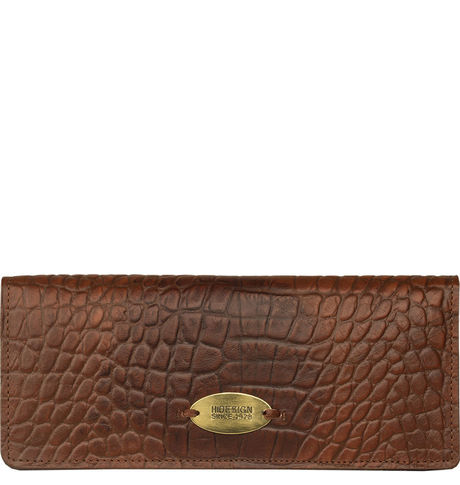 Hidesign Women Claea W1-Cement Croco Lamb Wallet,  tan