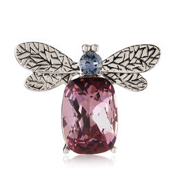 Shaze Pink Bee Brooch
