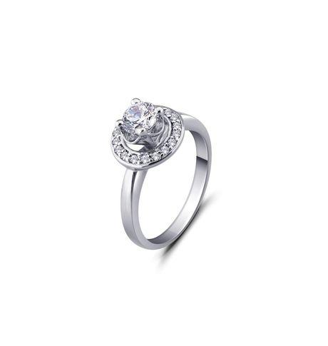 Balzo Delicate Solitaire Ring, 24,  white