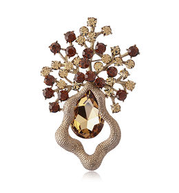Shaze Chrome Sparkle Brooch