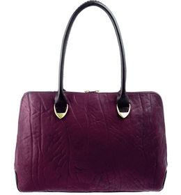 Hidesign Women Yangtze Elephant Ranch Handbag,  aubergine