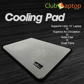 Clublaptop N10 Cooling Pad For 14  15.6  Laptops (White)