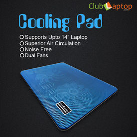 Clublaptop N10 Cooling Pad For 14  15.6  Laptops (Blue)