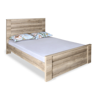 Won Queen Bed without Storage - @home by Nilkamal, Dark Walnut