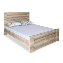 Won Queen Bed without Storage - @home by Nilkamal, Dark Walnut