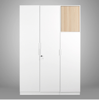 Fusion 3 Door Wardrobe - @home by Nilkamal, White