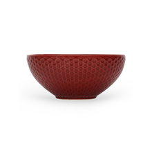 "Stone Solid Embos 6.5"" Soup Bowl, Maroon"