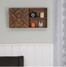 Anson Horizontal Wall Cabinet, Walnut