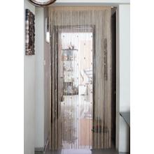 Crystal 100 cm x 229 cm Thread Door Curtain - @home by Nilkamal, White