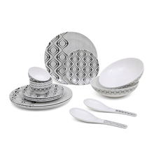 Classic 16 Pieces Dinner Set - @home by Nilkamal, White