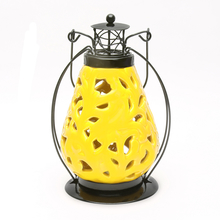 LED Hanging 14 cm x 11 cm x 20 cm Lantern - @home by Nilkamal, Yellow