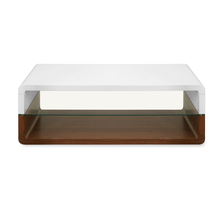 Walt Center Table - @home by Nilkamal, Ivory with Walnut