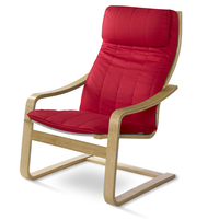 Occasional Chair Baker - @home Nilkamal,  red