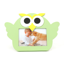 Baby Owl Photo Frame 4X6 Inch - @home by Nilkamal, Olive