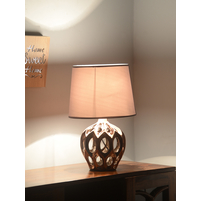 Regal Glaze 30X30X41CM Medium Table Lamp, Copper