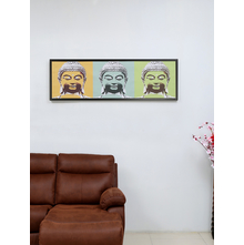 Buddha Trilogy 45X140CM Picture Frame, Orange