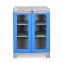 Nilkamal Freedom Small Cabinet - Deep Blue and Grey