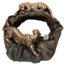 Leopard Water Fountain - - @home by Nilkamal, Brown