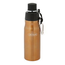 Aqua Stainless Steel Sports 600 ml Bottle - @home by Nilkamal, Gold