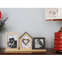 Table Photo Frame House Horizontal 42X19CM, 2 Pictures