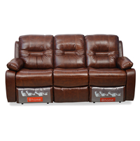 Wilson 3 Seater Sofa With 2 Manual Recliners - @home By Nilkamal, Caramel