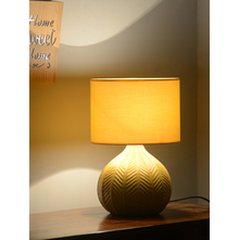 Leaf Bold Bohemian 28X38CM large Table Lamp, Yellow