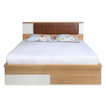 Valentino Queen Bed with Storage, Maple