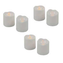 Flameless LED Votive Tealights Set of 6 - @home by Nilkamal