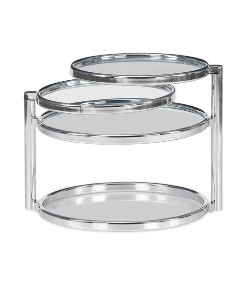 Lorena with 3 Ring Glass Center Table - @home by Nilkamal, Clear