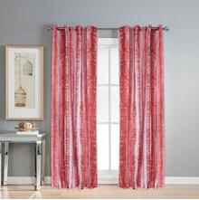 Digi Abstract 112 cm x 274 cm XL Door Curtain Set of 2 -@home by Nilkamal, Maroon