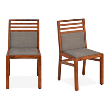 Hercules Dining Chair Set of 2 - @home by Nilkamal, Matt Honey