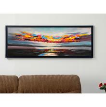 Earthy Ocean Sky Picture Frame - @home by Nilkamal, Maroon