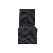 Jacquard Chevron Knit Chair Cover, Black