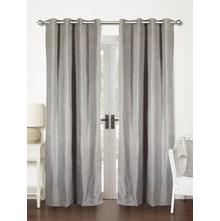 Moshi 112 cm x 274 cm XL Door Curtain Set of 2 - @home by Nilkamal, Grey