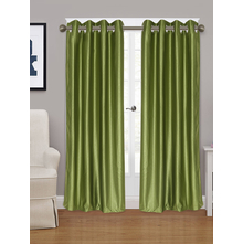 Embellished Square 115 cm x 213 cm Door Curtain - @home by Nilkamal, Green