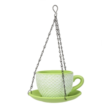 Cup Saucer Hanging Planter - @home by Nilkamal, Bright Green