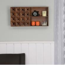 Colton Horizontal Wall Cabinet, Walnut