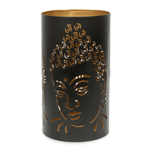 Buddha Cutwork Large Votive - @home by Nilkamal, Brown
