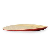 Spun 30 cm x 21 cm x 3 cm Bamboo Tray - @home by Nilkamal, Maroon