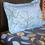 Line Leaf 150 cm x 225 cm Single Bedsheet - @home by Nilkamal, Indigo
