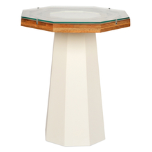 Malibu Side Table - @home by Nilkamal,  white with walnut