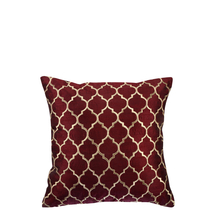 Jali 40 cm x 40 cm Cushion Cover Set of 2 - @home by Nilkamal, Maroon
