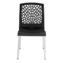 Nilkamal Novella 19 Stainless Steel Chair, Iron Black