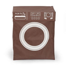 Machine Look Top Flap Cover Laundry Bag - @home by Nilkamal, Red