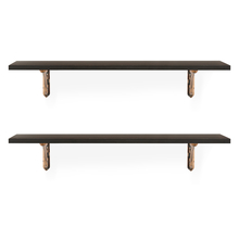 Romantic & Hera Medium Wall Shelf Set of 2 - @home by Nilkamal, Walnut